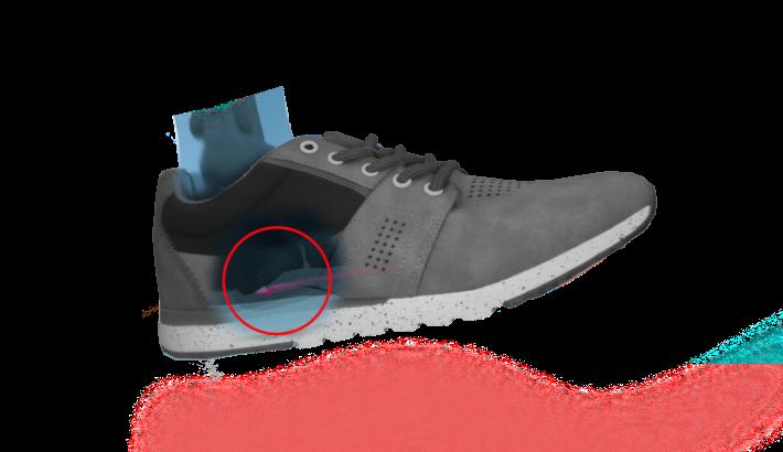 Fersensporn Schuh